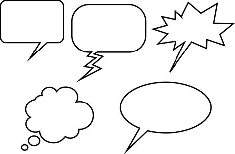 speech bubbles free images at clker com vector clip