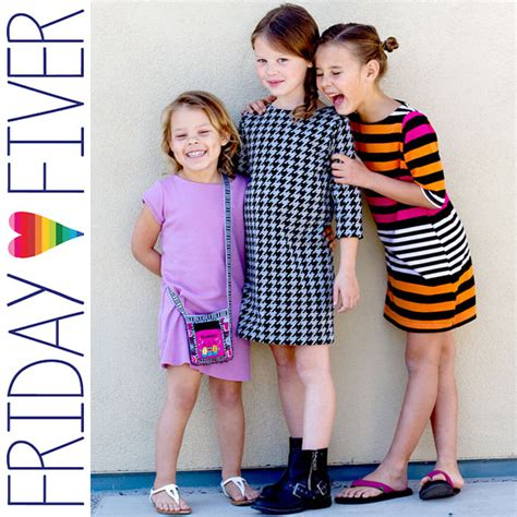 Friday Anywhere But Here by Friday Fiver The Anywhere Dress By Go To Patterns