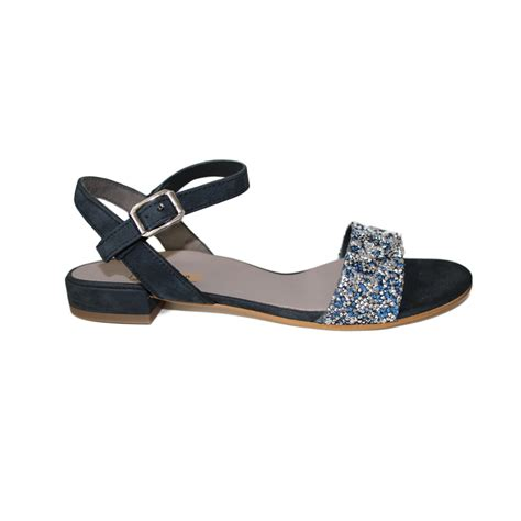 navy sandals flat paul green navy flat sandal with glitter jojo boutique