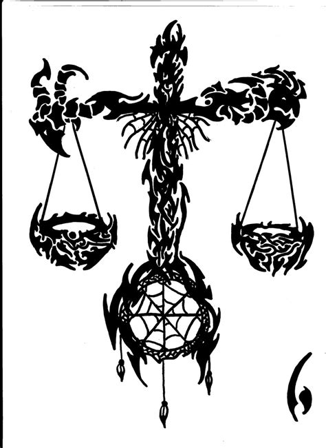libra tribal tattoo designs libra by inuyasharullz on deviantart