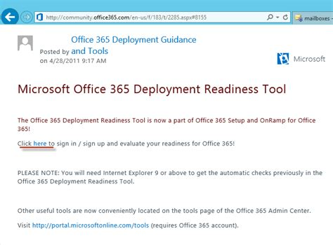 Office Deployment Tool by Office 365 Deployment Readiness Tool Walk Through