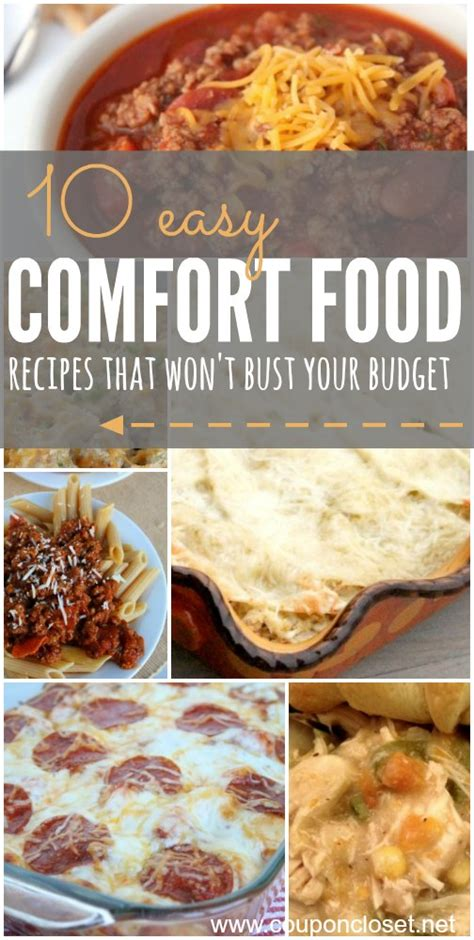 10 easy comfort food recipes coupon closet