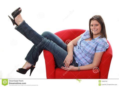 girls armchair girl on armchair stock photography image 13893782
