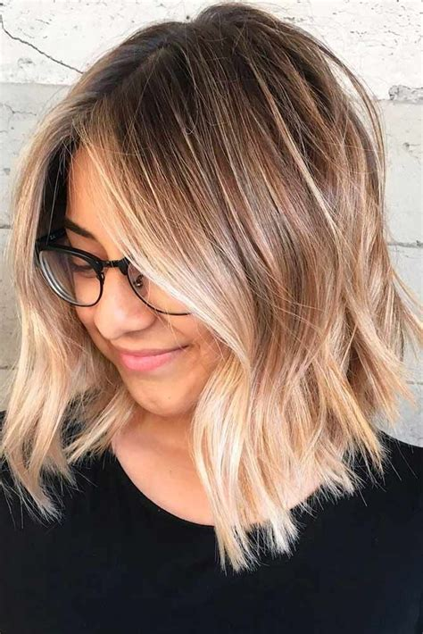 pictures of diangle bob with ombre color 27 blonde ombre hair colors to try honey balayage