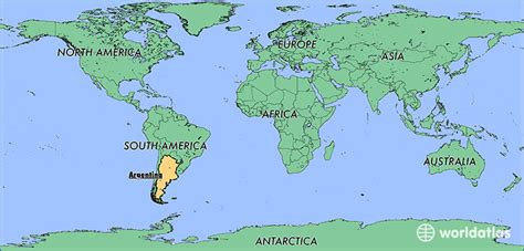 where is argentina on the world map where is argentina where is argentina located in the