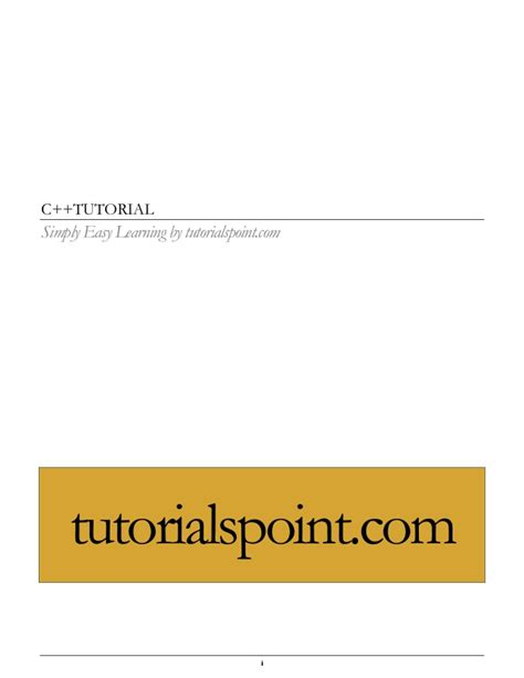 tutorialspoint cpp cpp tutorial