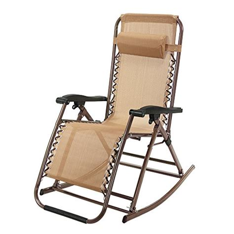 gravity rocking chair outdoor recliner infinity tan lounge patio camping