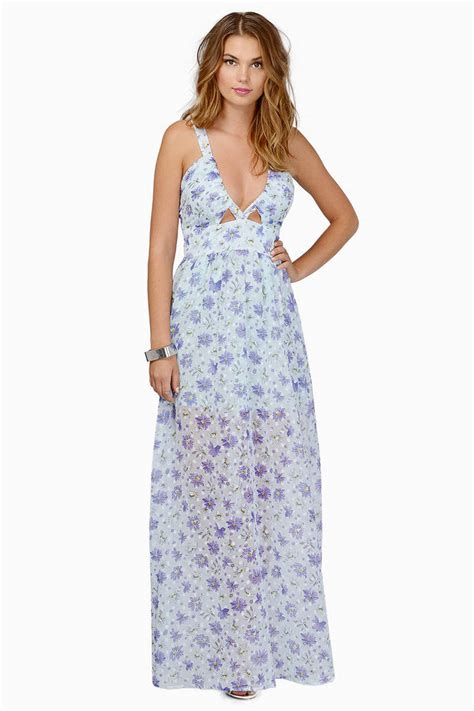 Flowery Dress Maxi trendy light blue floral maxi dress floral print dress