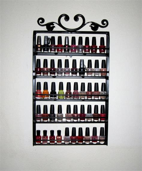 Nail Rack by Items Similar To Hanging Nail Rack Wrought Iron