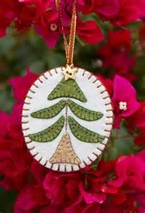 handmade wool felt ornament scandinavian christmas tree