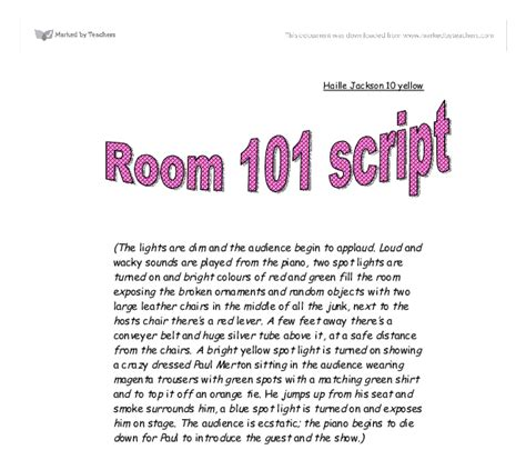 Room 101 Essay by College Essays College Application Essays Room 101 Essay