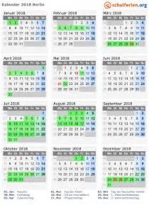 Kalender 2018 Feiertage Kalender 2018 Ferien Berlin Feiertage