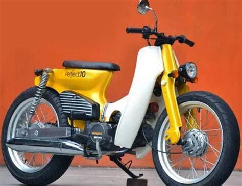 modifikasi motor cetul galeri modifikasi honda c70 racing dan retro paling keren