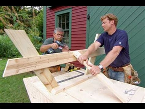 how to build a picnic bench how to build a picnic table this old house youtube
