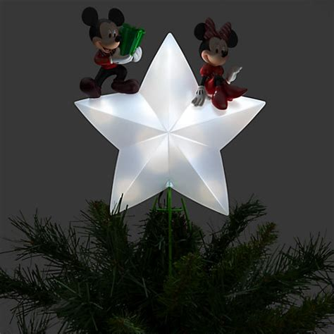 disney mickey minnie mouse lighted christmas tree topper