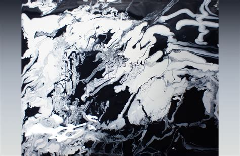 acrylic painting ideas black and white abstract painting fluid acrylic painting by brigitte