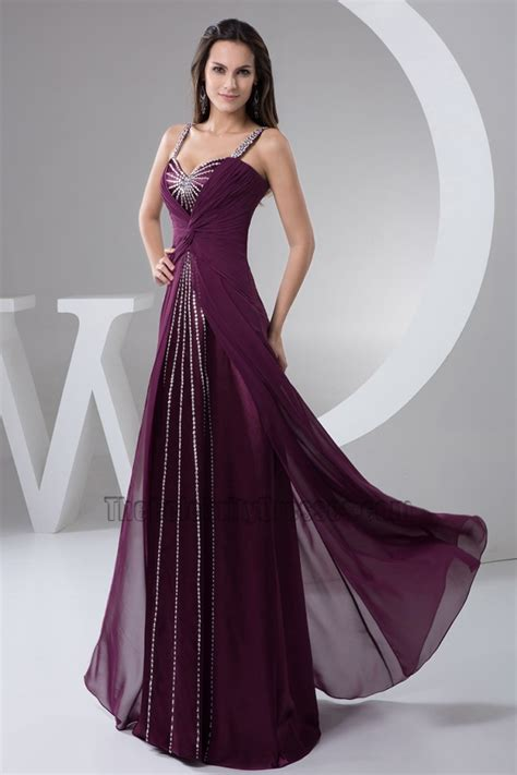 Longdress Busui Grape grape sequined prom gown evening dress thecelebritydresses