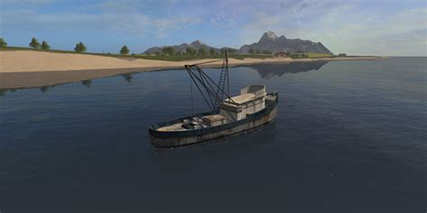 Ls With Fish by Fishing Boat V 1 Ls 17 Farming Simulator 2017 Fs Ls Mod