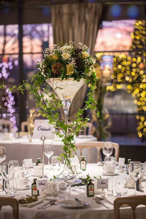 Flower Arrangements In Martini Glass Vases by Table Centrepiece Martini Vase White And Gold Theme Flowers For All Occasions From The