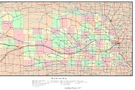 nebraska county map nebraska political map
