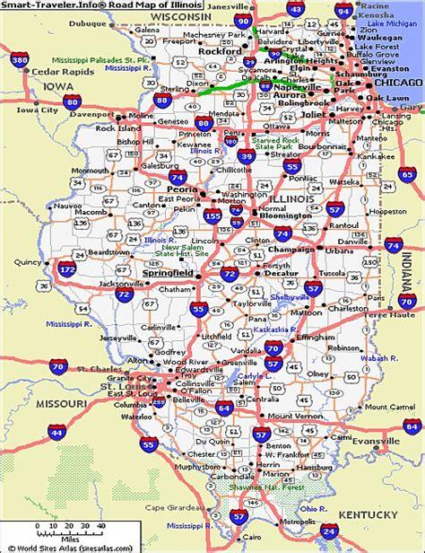 illinois state map illinois map highways