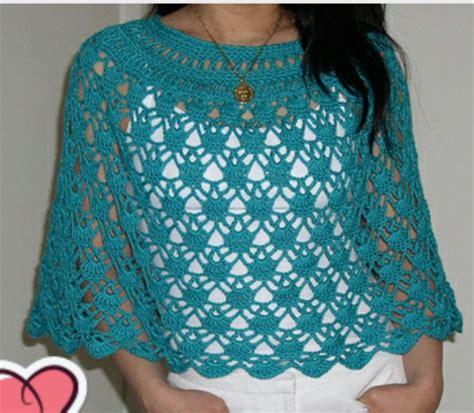patrones de ruanas a crochet el crochet tejido a mano chales y ruanas