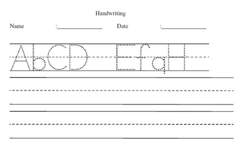 Create Tracing Worksheets by Handwriting Worksheet Maker Sle Dotted Print