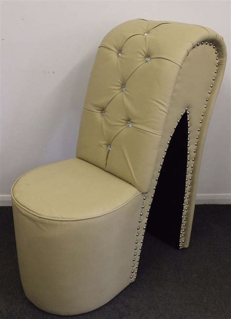 Stiletto Shoe Chair by Creme Funky Stiletto High Heel Shoe Chair Home Furniture