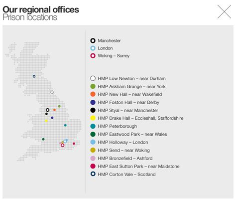 map uk prisons reports in prison