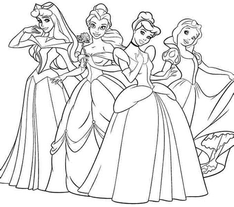 Childrens Coloring Pages Disney by Disney Princess Colouring Coloring Page Ideas