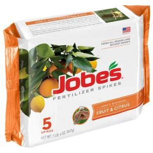 jobe s fruit and citrus tree fertilizer spikes 5 pack