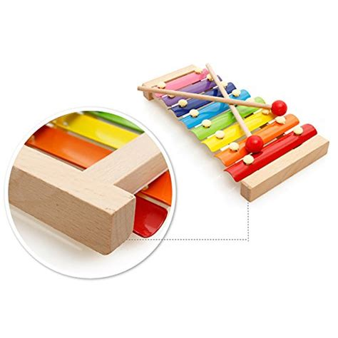 decorative xylophone motrent wooden 8 notes xylophone first musical