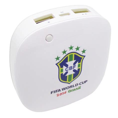 Smart Power Bank 6000mah E 144 taff smart power bank 6000mah 2014 brazil world cup 32 team brazil mp60 white