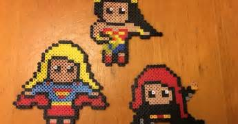 female superhero perler bead patterns supergirl black