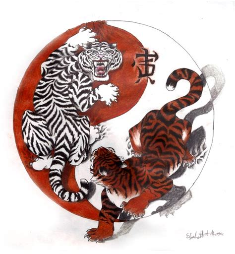 chinese tiger tattoo designs yin yang images designs
