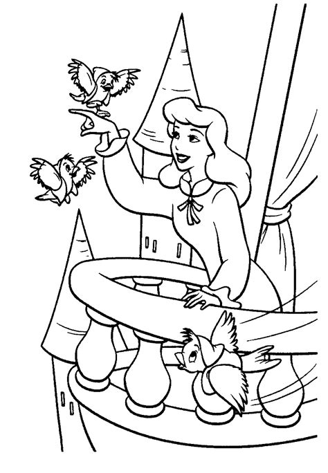 coloring book pages cinderella cinderella coloring pages to print