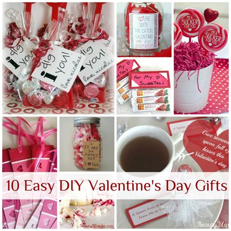 diy valentine gifts cute homemade valentines day gift ideas for him idea