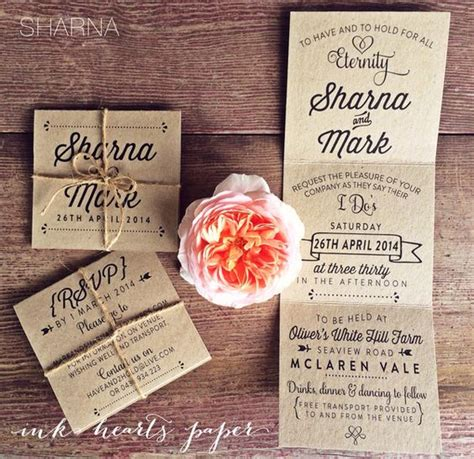 Tri Fold Invitation Paper - type treatments wedding and tri fold on