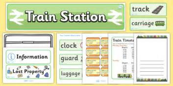 train station role play pack train station role play