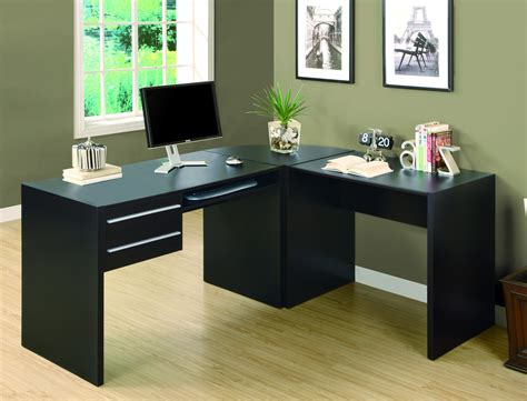 l shaped computer desk with keyboard tray modern cappuccino l shaped desk with two drawers