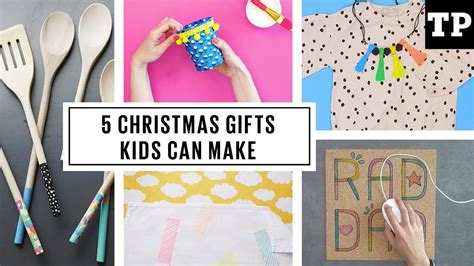 pinterest hand made christmas gifts children can make for parents 5 easy diy gifts can make