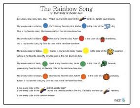 colors in song the rainbow song matan