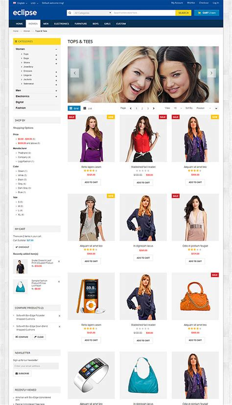 eclipse themes magento eclipse responsive multipurpose magento theme by