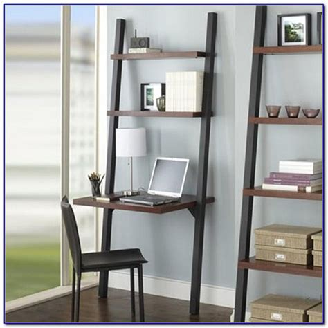 Leaning Wall Desk by Leaning Wall Shelf With Desk Top Page Home