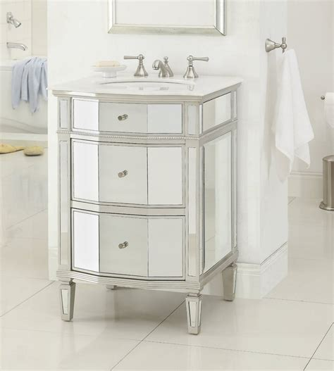 mirrored bathroom vanity sink 24 quot petite mirror reflection ashlie bathroom sink vanity