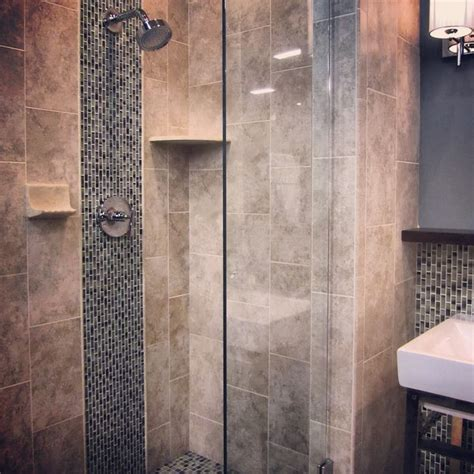 23 nice ideas of glass tile trim bathroom a glass mosaic stripe adds a nice touch of design to a