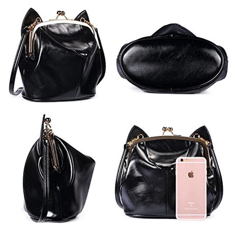 Cat Ear Crossbody Bag cat ear shoulder bag soft leather crossbody