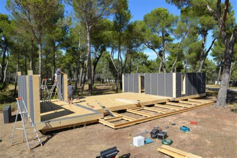 pop up houses sustainable home built with screwdriver in four days