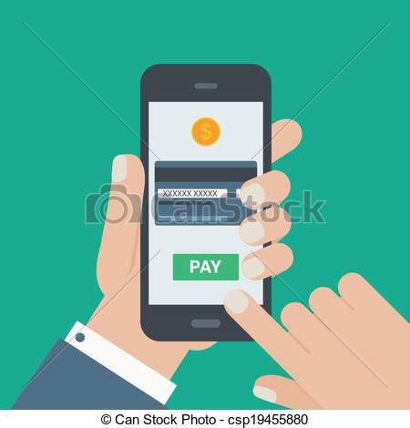 Clip On For Smartphone Hp All vector of mobile payment holding phone flat
