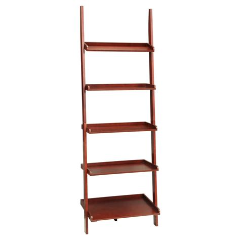 5 Shelf Ladder Bookcase Country Ladder 5 Shelf Bookshelf Convenience Concepts Ebay